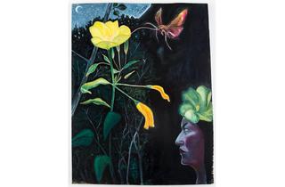 (David Harrison: 'Flowers of Evil, Evening Primrose Fairy', 2015. © David Harrison, courtesy Victoria Miro Gallery)