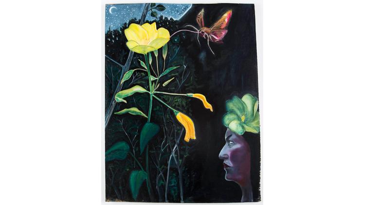 David Harrison: 'Flowers of Evil, Evening Primrose Fairy', 2015. © David Harrison, courtesy Victoria Miro Gallery