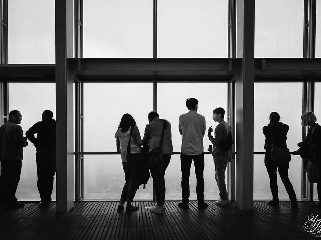 Visitors at the View from the Shard realise their mistake.