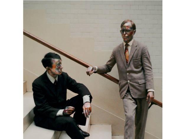 Gilbert & George as living sculptures, 1969