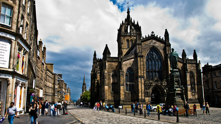 st giles cathedral, royal mile, high street, old town