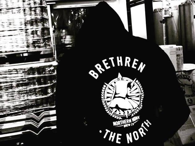 man in northern monk hoodie
