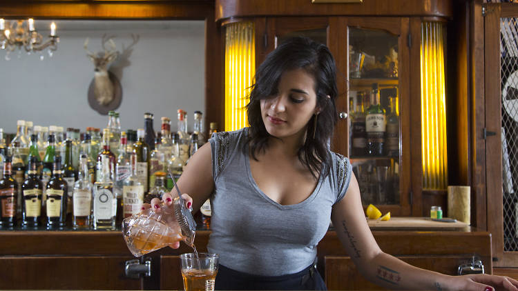 Mony Bunni, shown here at Sportsman's Club, is the manager at Queen Mary Tavern.