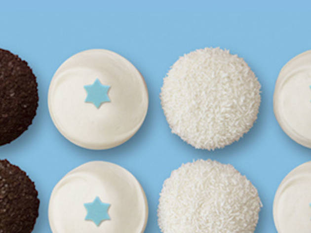 Hanukkah cupcakes at Sprinkles