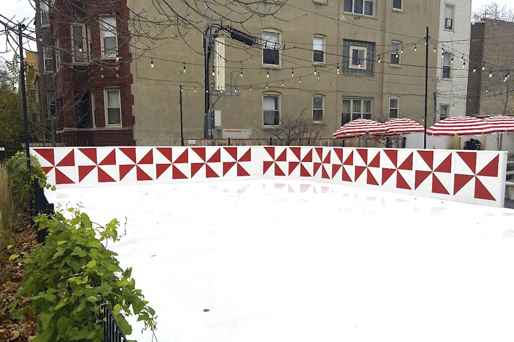 Ice Skating at Parson's Chicken & Fish