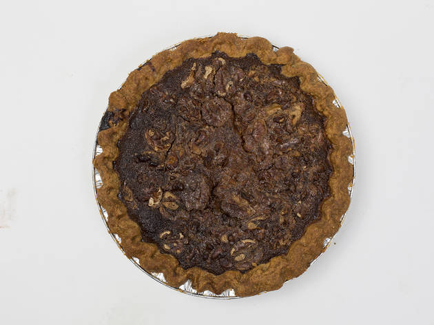 Maple whiskey walnut pie from Petee's