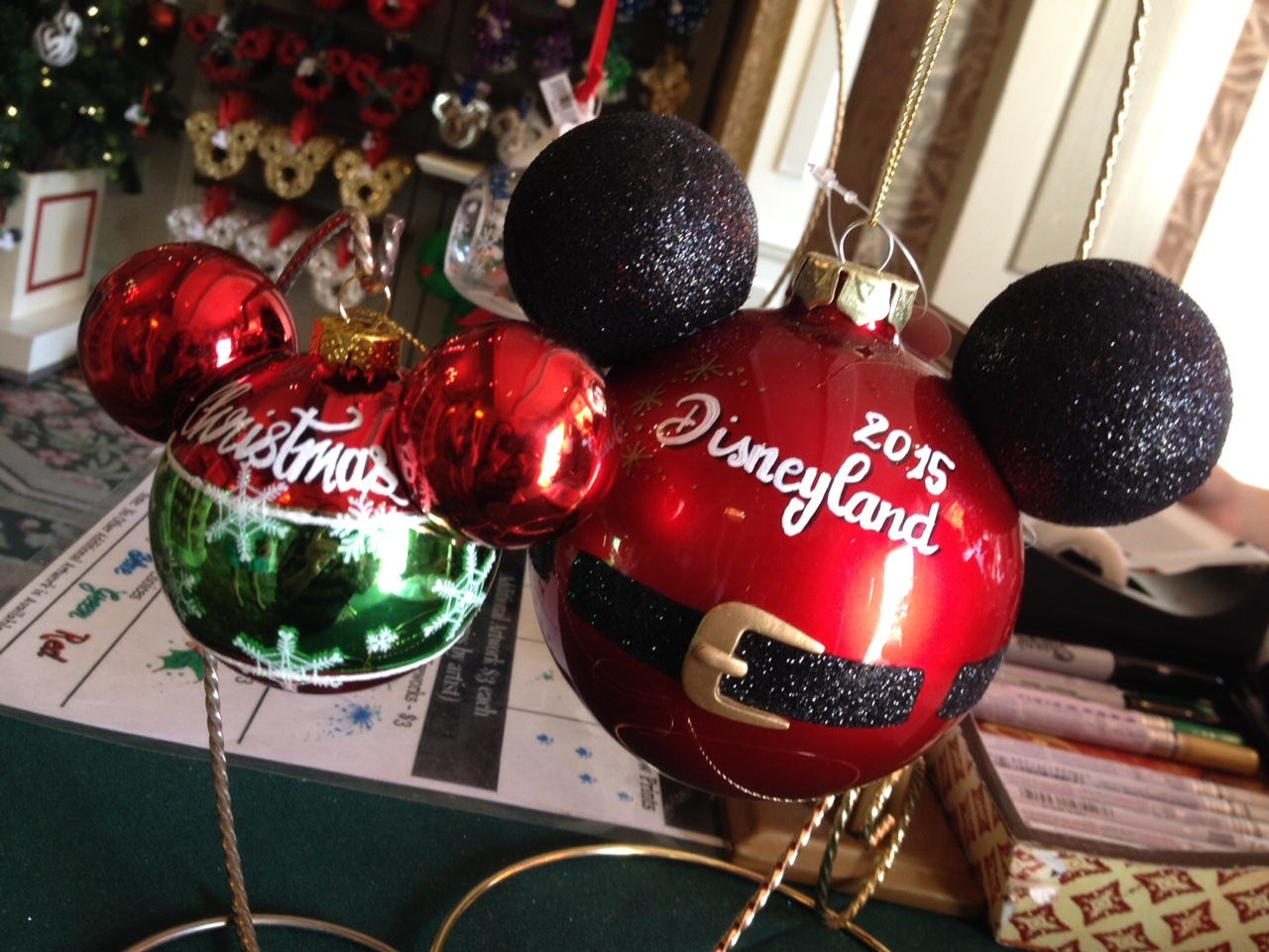 Mickey Mouse head shaped ornament