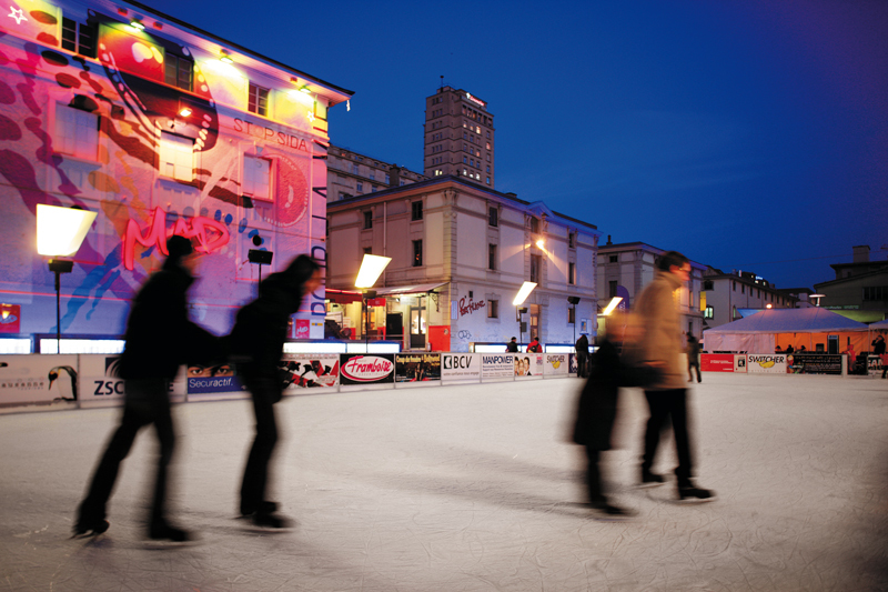 Ice skating at Flon Ice Rink · Lausanne