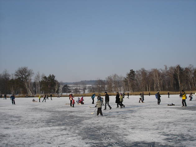 Katzensee winter ice rink