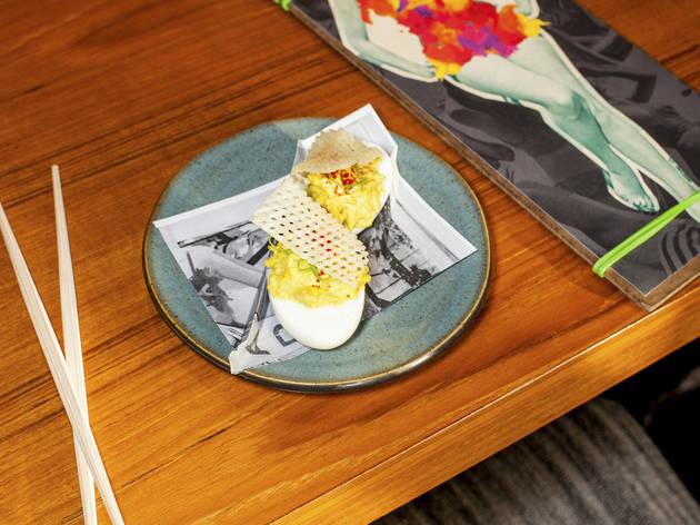 Tonkatsu & Deviled Eggs at Momotaro
