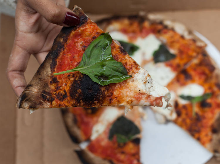 Margherita pizza from Pizza Boss