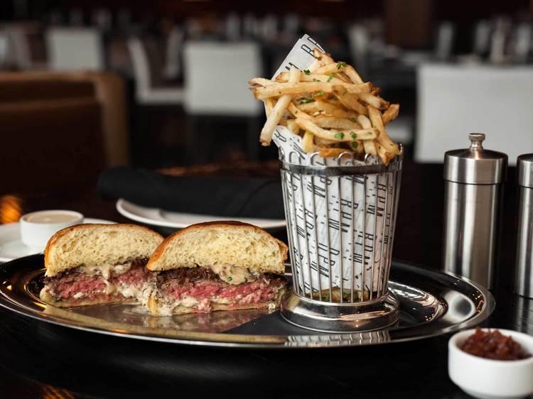 RPM truffle burger at RPM Steak