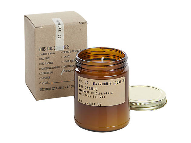 Pommes Frites Candle Co. teakwood and tobacco soy candle