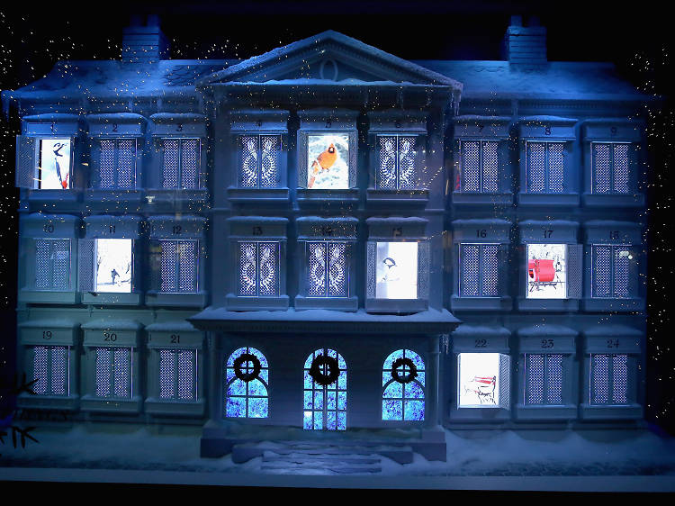Department store holiday windows