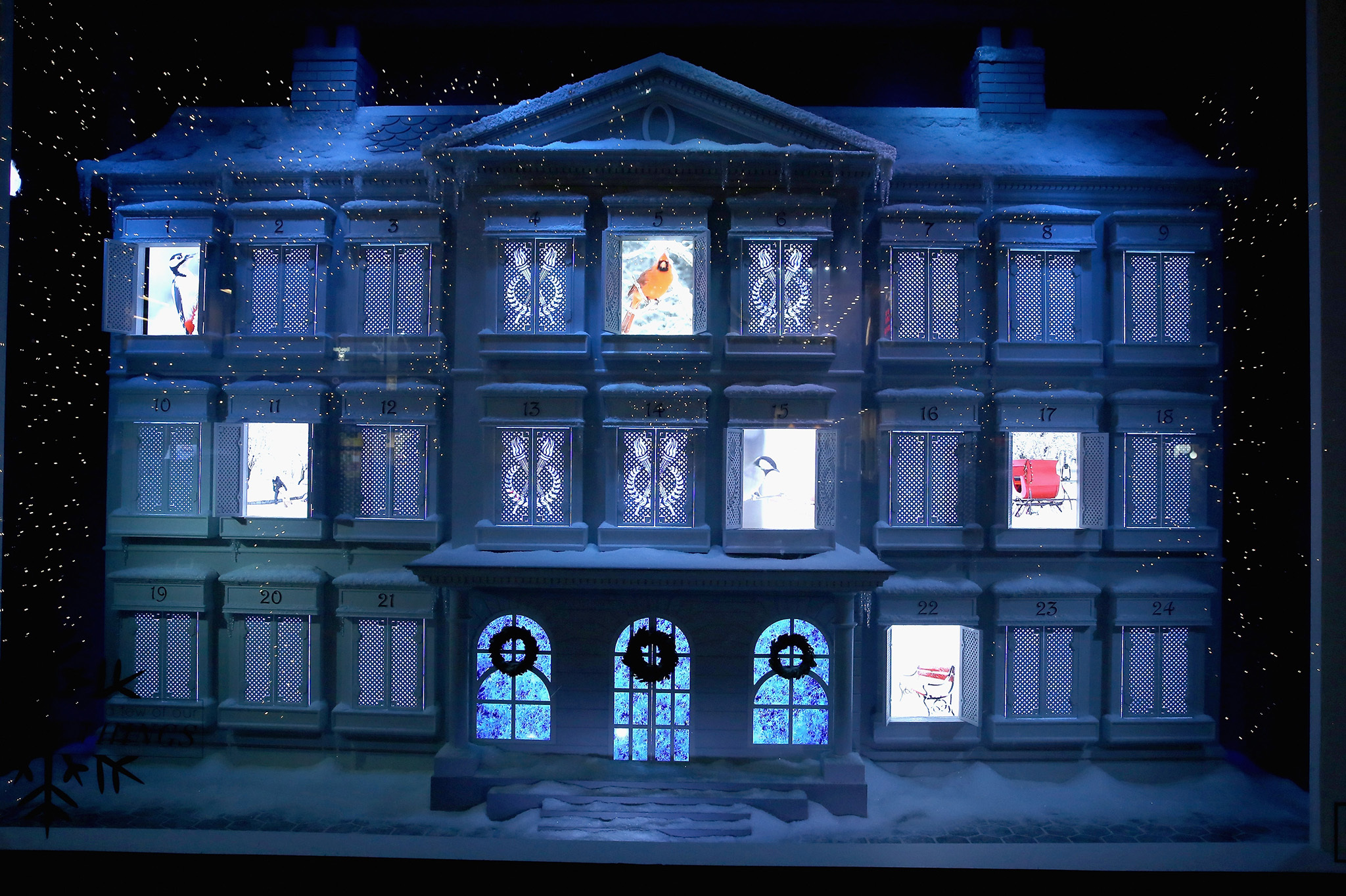 Christmas window displays in NYC (2015)