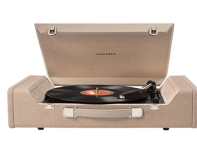 Crosley Nomad turntable, $200, at crosleyradio.com