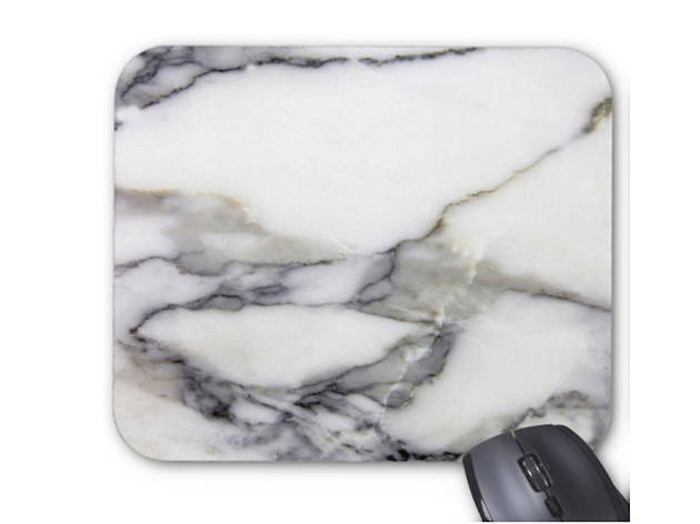Faux Marble mouse-pad, $12, at etsy.com shop patternbehavior