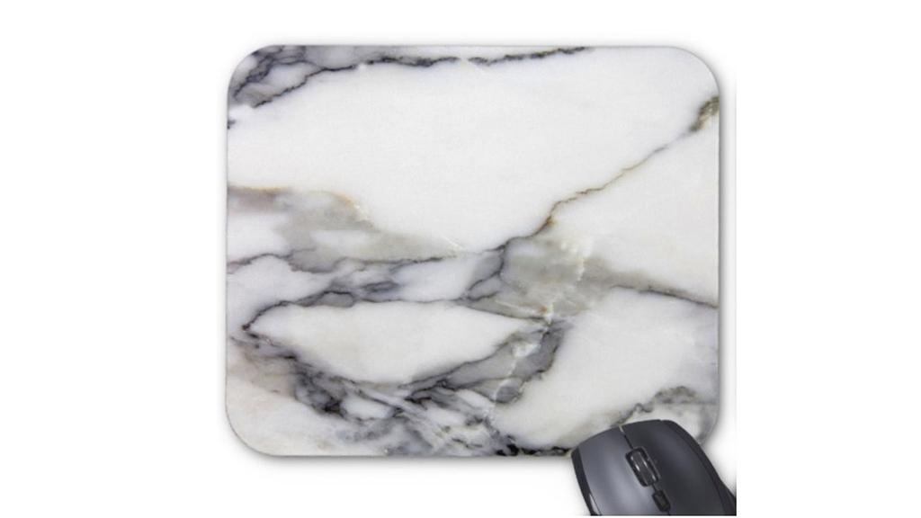 Faux Marble mouse-pad, $12, at etsy.com shop patternbehavior