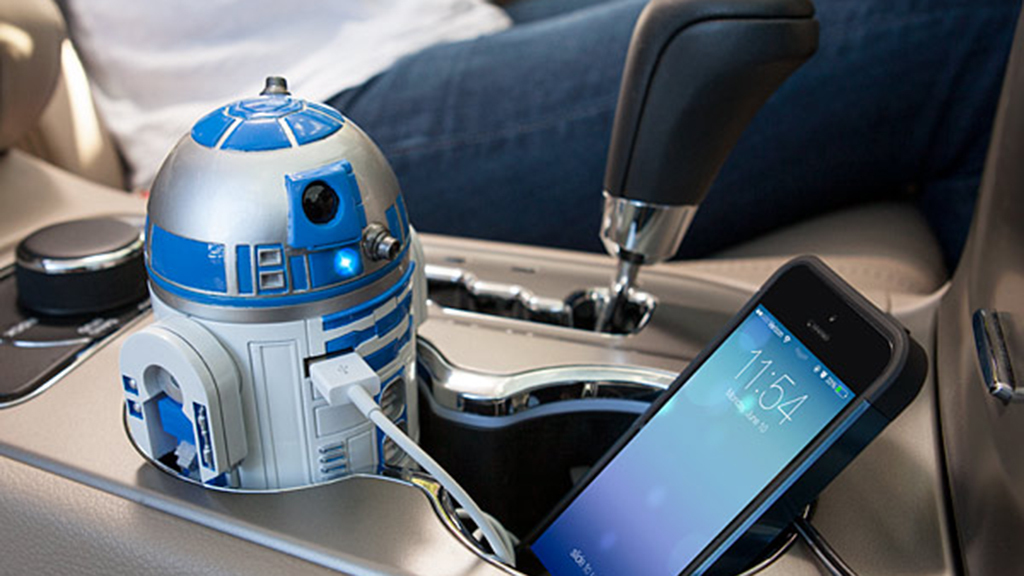 R2 D2 USB Car Charger, $40, at thinkgeek.com