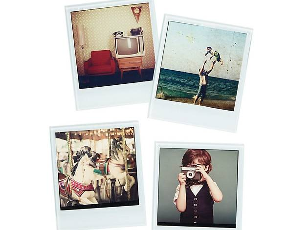 Polaroid coasters, four-piece set