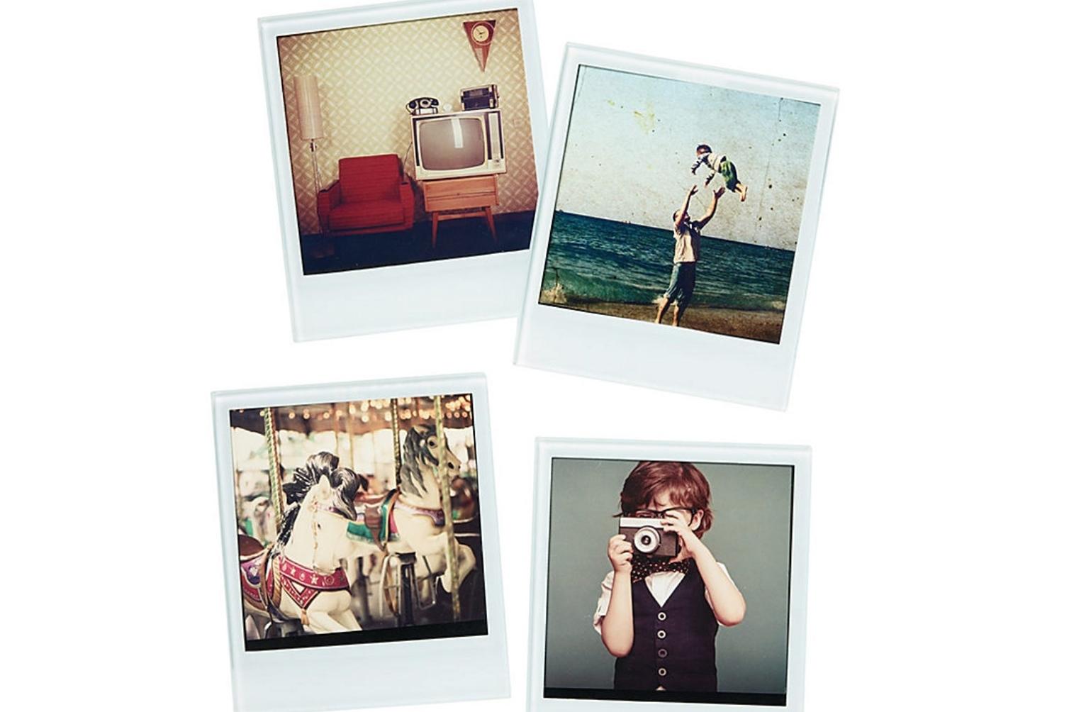 Polaroid coasters, four-piece set