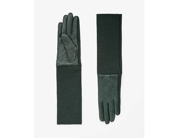 COS long sleeve leather gloves, 99, at cosstores.com