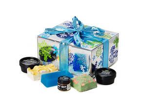 Lush Snow Time bath gift set, $49, at lushusa.com