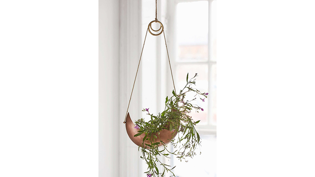 Magical Thinking crescent hanging planter, $24, at urbanoutfitters.com