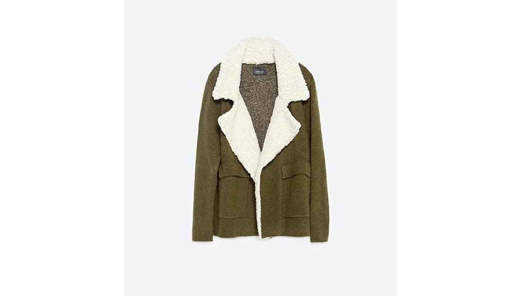 Zara short jacket, $70, at zara.com