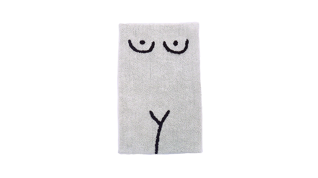 Cold Picnic Private Parts torso bath mat, $60, at coldpicnic.com