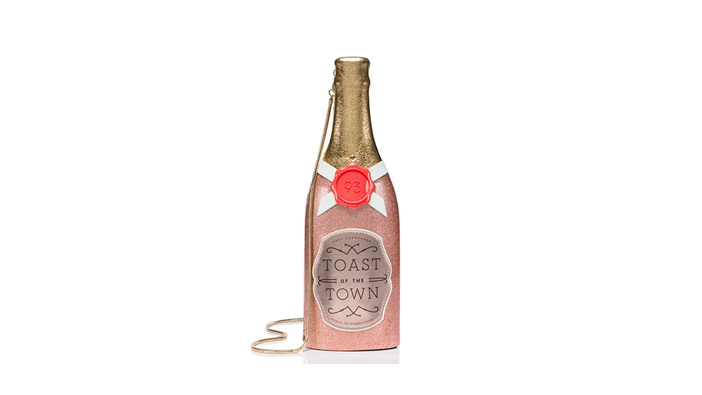 Kate Spade Champagne Bottle clutch, $378, at katespade.com