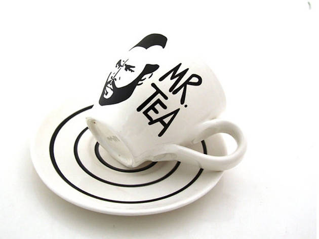 Mr. T tea cup and saucer, $20, at etsy.com lennymud