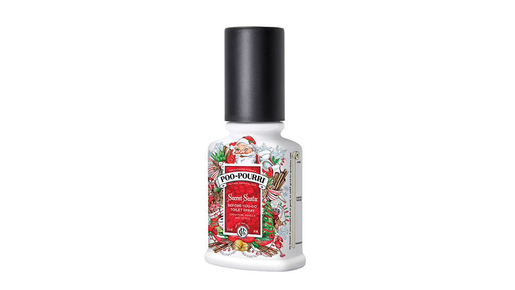 Poo~Pourri Secret Santa Before You Go toilet spray, $10, at poopouri.com