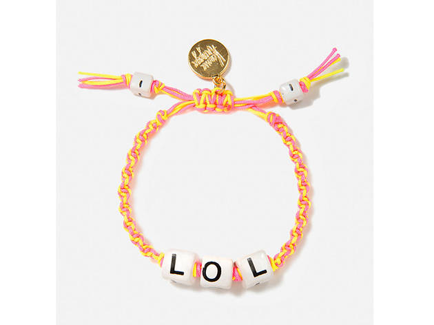 Vanessa Arizaga LOL bracelet, $50, at openingceremony.com