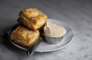 Biscuits with honey butter at E.R.B.