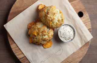 Bacon chedder buttermilk biscuits at MB Post