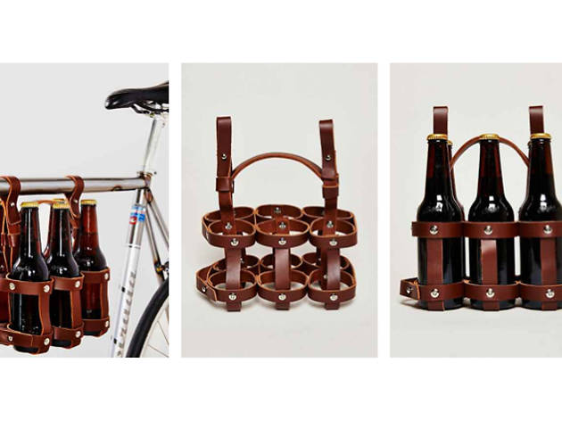 Fyxation Bicycle Company leather six-pack caddy