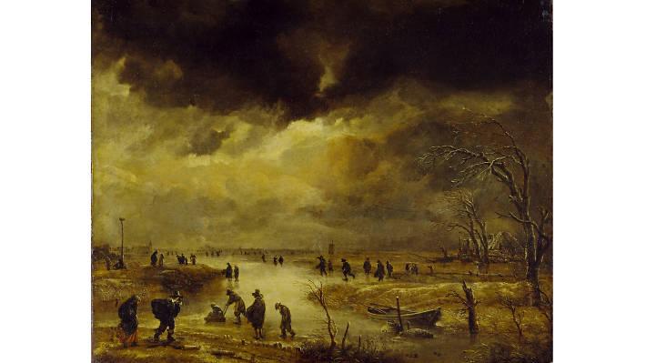Aert van der Neer, 'A Winter Scene', mid-1650s