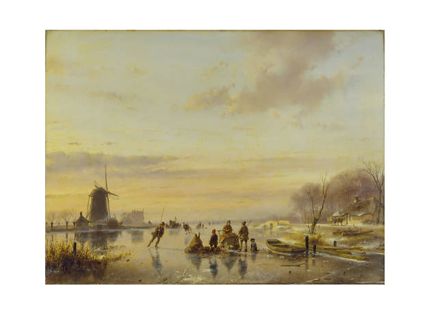 Andreas Schelfhout, 'Winter in Holland', 1843