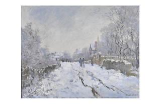 Claude Monet, 'Snow Scene at Argenteuil', 1875