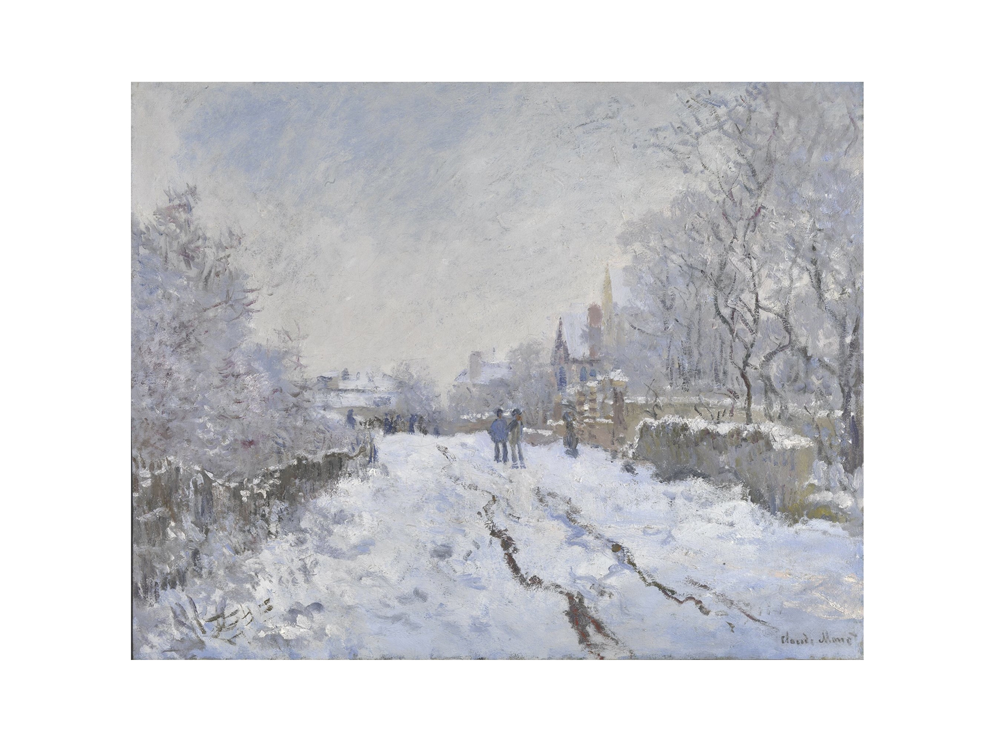 Claude Monet, 'Snow Scene at Argenteuil', 1875