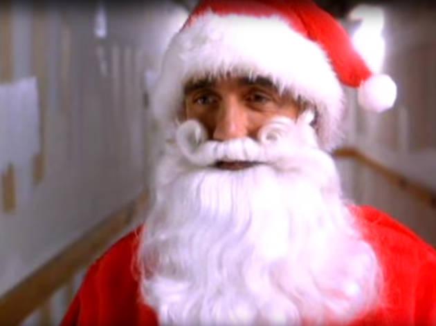 Santa movies, santa with muscles