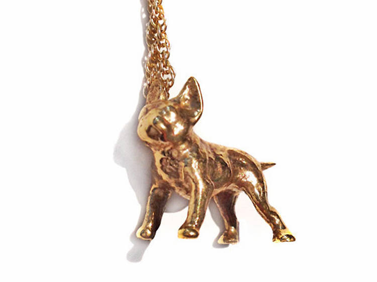 Verameat Tiny Frenchie Lover Charm Necklace