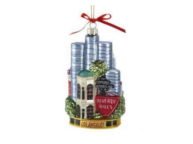 Noble Gems Los Angeles glass cityscape ornament