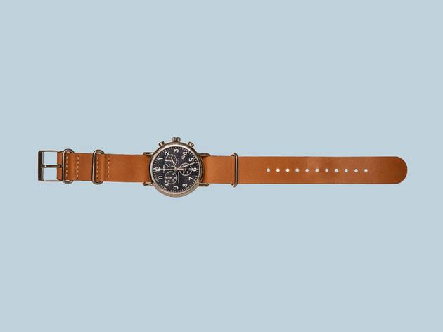 Weekender chrome oversized watch