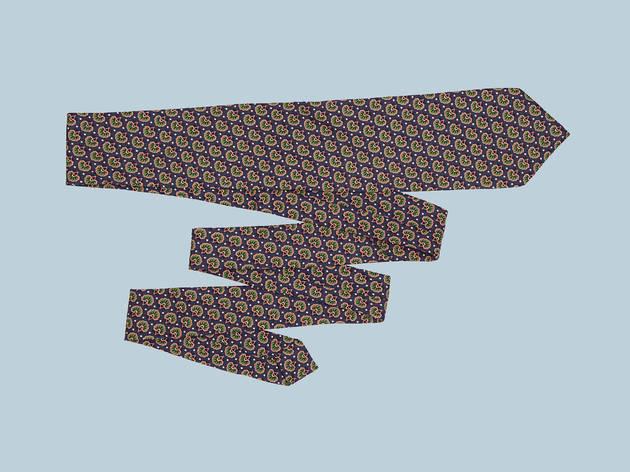 Purple classic tie