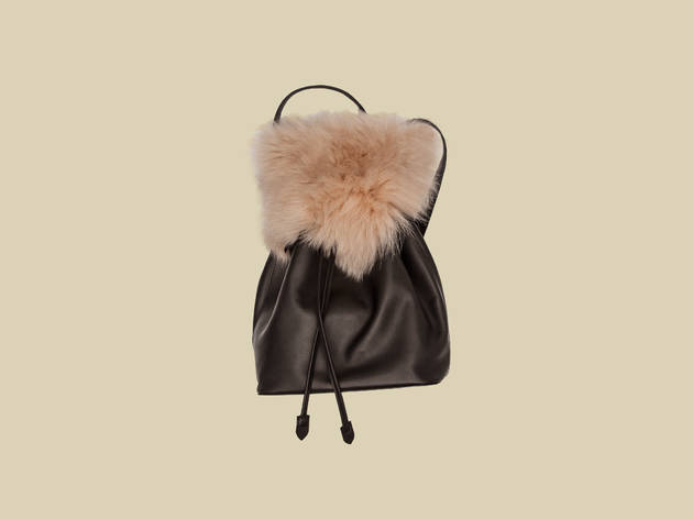 Planet shearling backpack