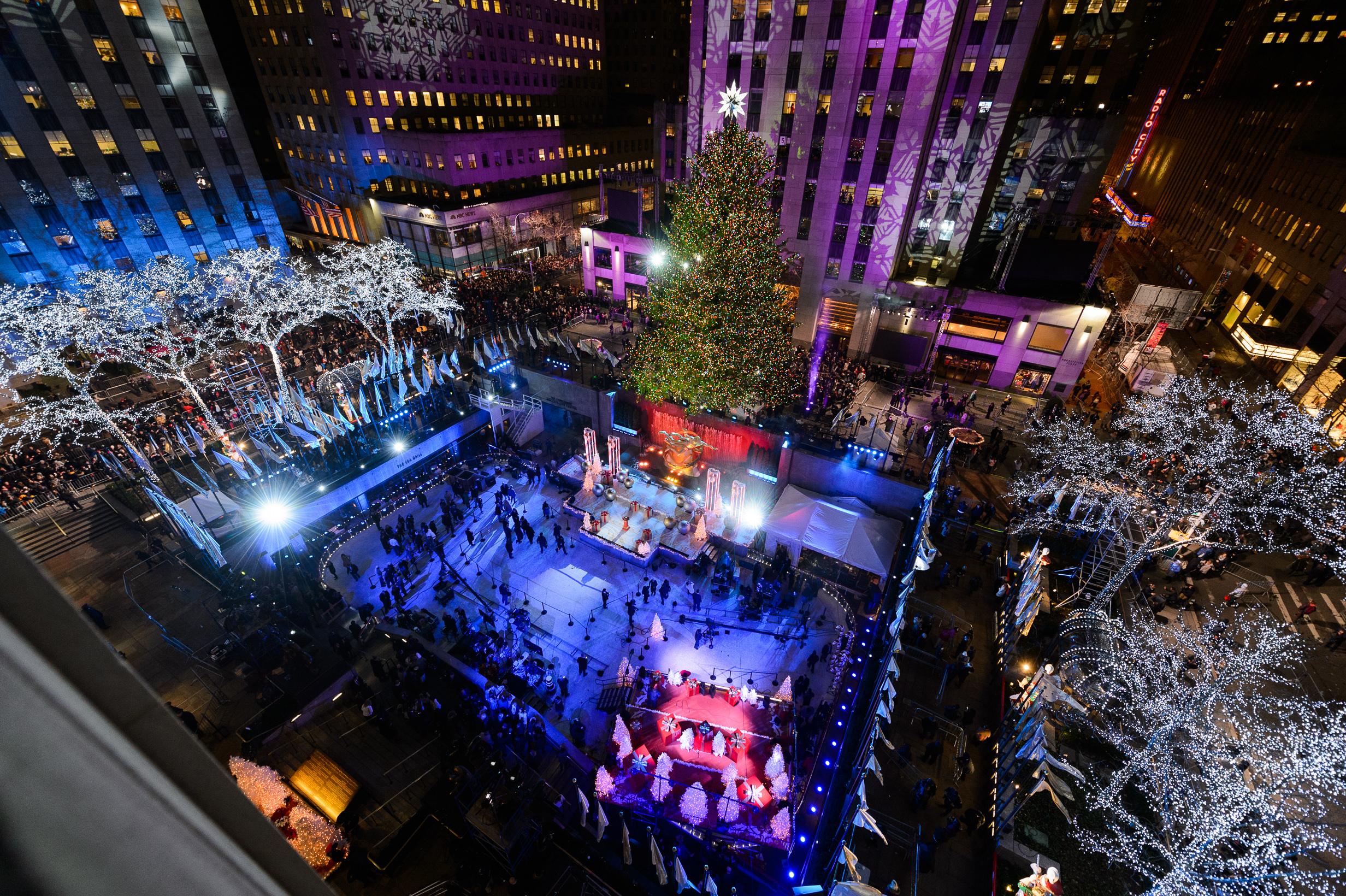 See the Rockefeller tree lighting in NYC
