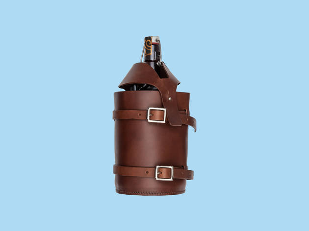 Christmas gift guide: sports - Craft leather growler holder by Marine Seven x Clapton Craft