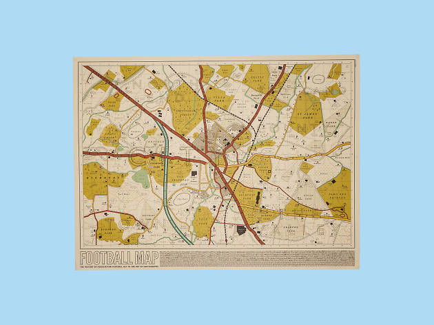 Christmas gift guide: sports - football ground re imagined as a map - football map